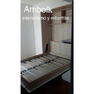Dormitorio juvenil, cama abatible