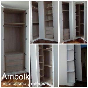 Distribución y almacenamiento de un armario o vestidor