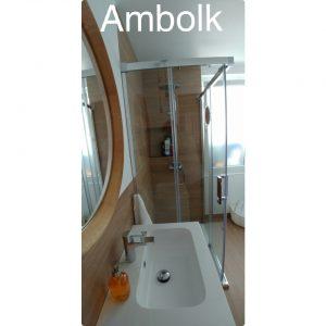 Mueble de baño con pileta seno desplazado