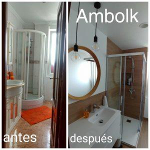 baño pequeño antes y después